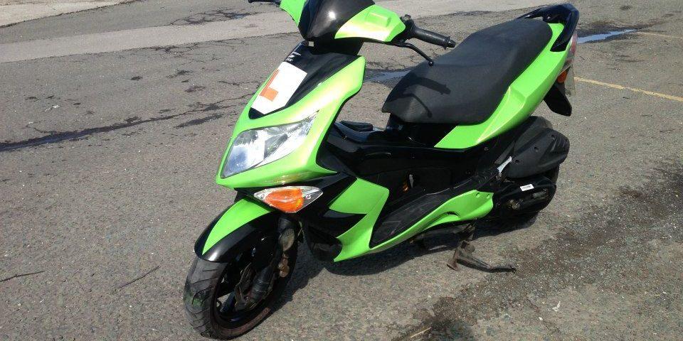 Bright Green Moped Respray