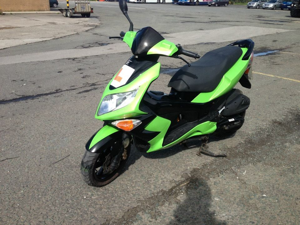 Bright Green Moped Respray