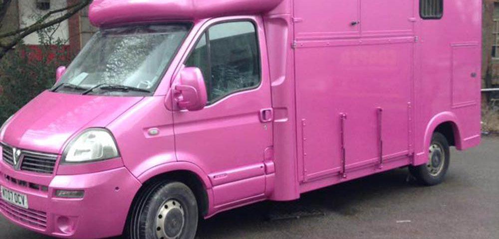 Pink Horse Box Respray