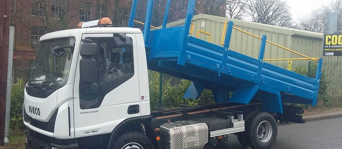Blue Commercial Flatbed Truck Respray