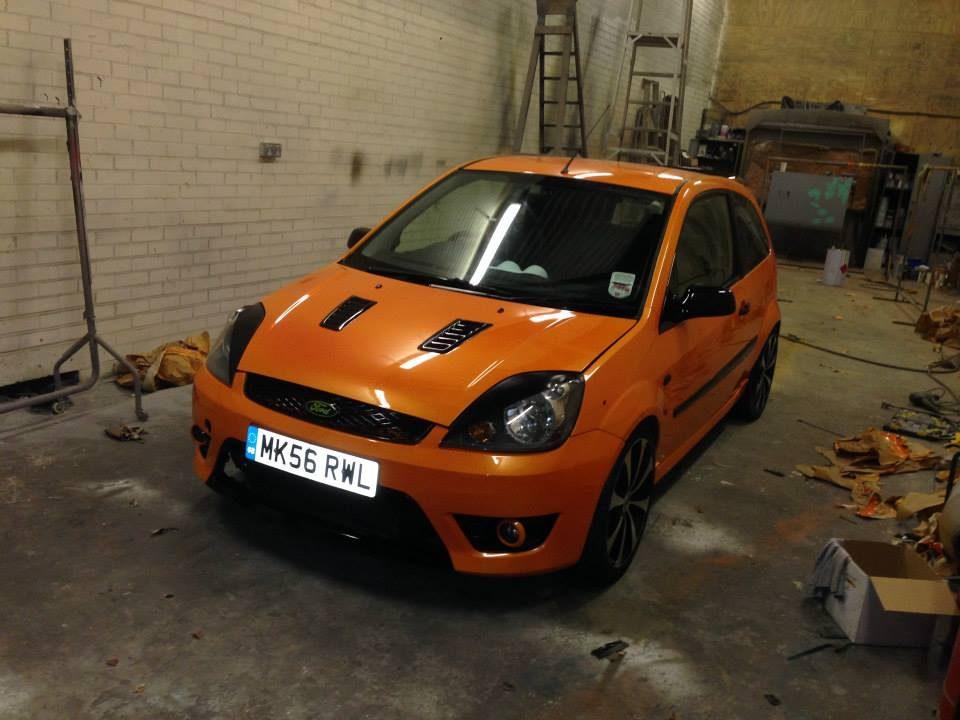 Orange Ford Fiesta Respray Lancashire