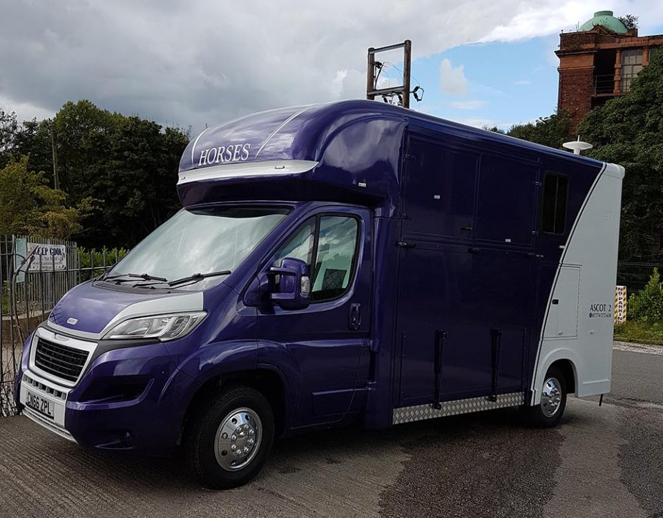 Purple Horse Box Respray