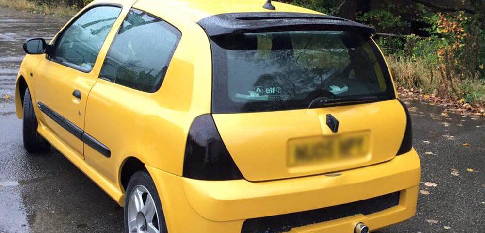 Renault Clio Yellow Respray