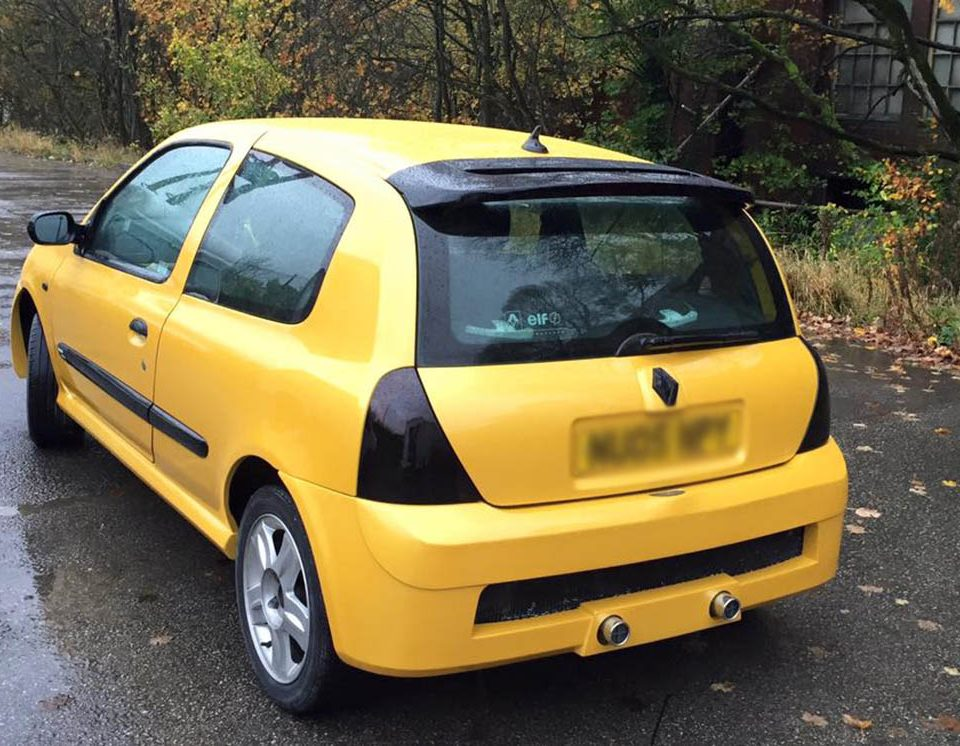 Renault Clio Yellow Respray